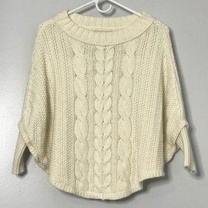 Ann Taylor Loft Knit Poncho Sweater Ivory PS\SP